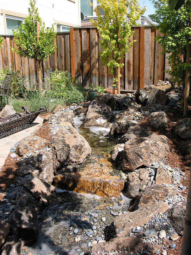 Backyard Hill Waterfall : Morgan Hill Pondless Waterfall and Stream Contractor Builder  Pond